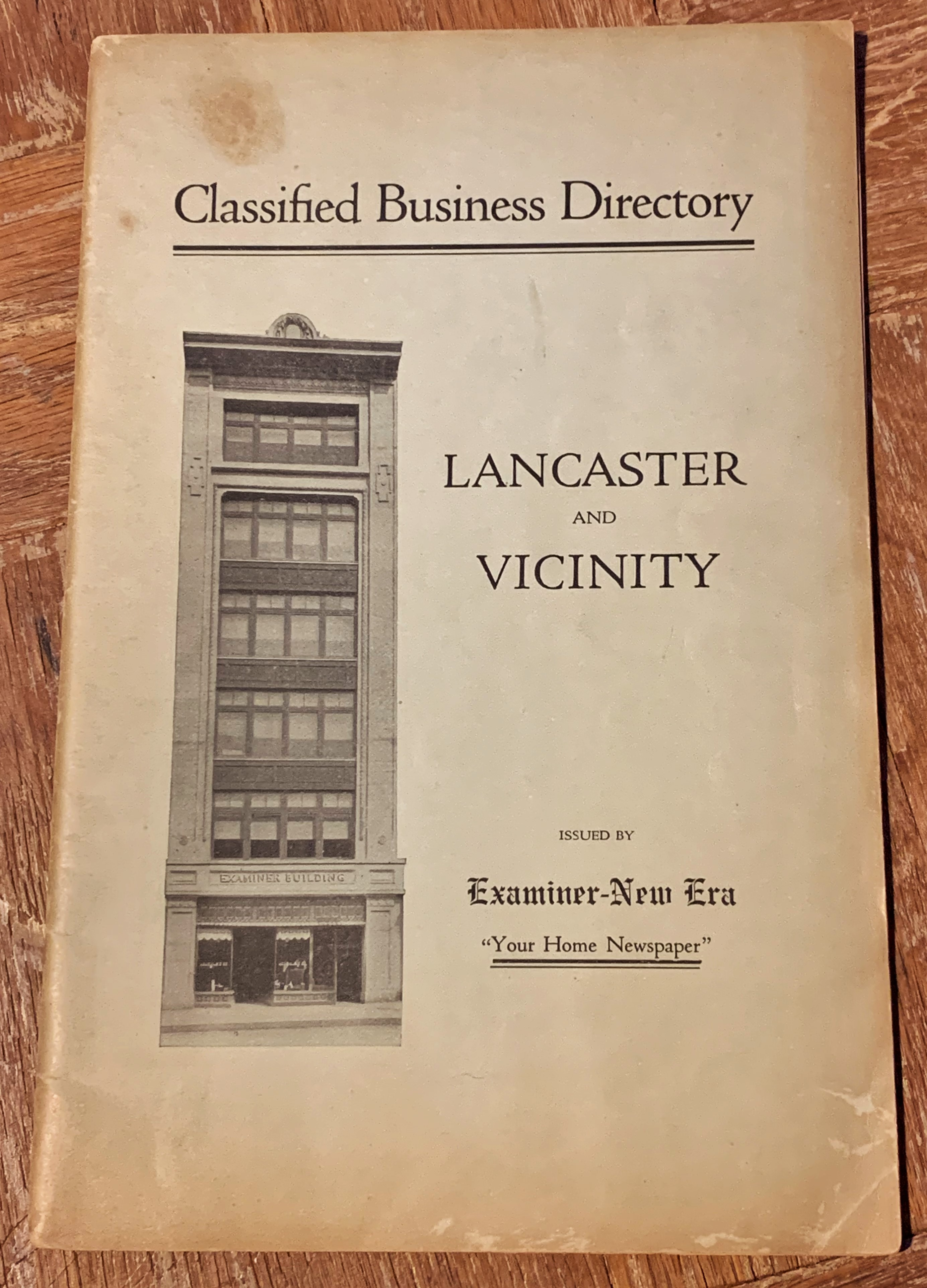 Image for Classified Business Directory Lancaster and Vicinity :  Issued by the Examiner-New Era.